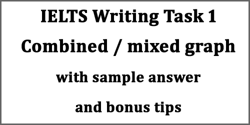 IELTS Writing Task 1: mixed/combined graph writing; with bonus tips