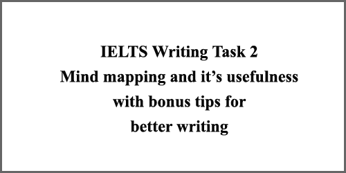 IELTS Writing Task 2: how to draw a mind-map