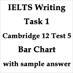 IELTS Academic Writing Task 1: Cambridge 12 Test 5, single bar chart with strategies, bonus tips and sample answer