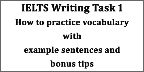 IELTS Writing Task 1: top vocabulary practice for line graph/ column graph with example sentences and bonus tips