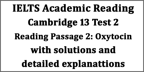IELTS Reading: Cambridge 13 Test 2