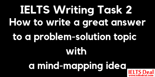 IELTS Writing Task 2: how to write a problem-solution essay on increase of waste; with effective mind mapping technique and model answer