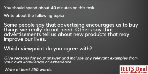 IELTS Writing Task 2: both-view essay and agree-disagree essay on 'advertisement'; with model answers