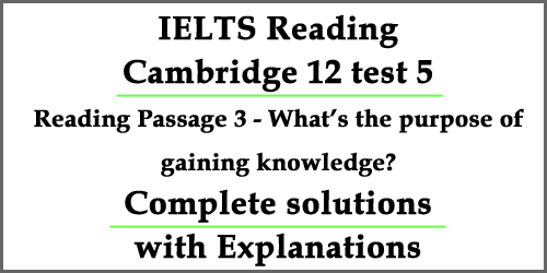 IELTS Reading: Cambridge 12 Test 5 Passage 3- What's the