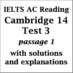 IELTS Academic Reading: Cambridge 14, Reading Test 3: Passage 1; The concept of intelligence; with top solutions and detailed explanations