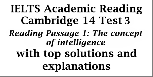 IELTS Academic Reading: Cambridge 14, Reading Test 3