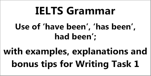 IELTS Grammar: the use of 'have been', 'has been', 'had been' with examples, explanations and bonus tips