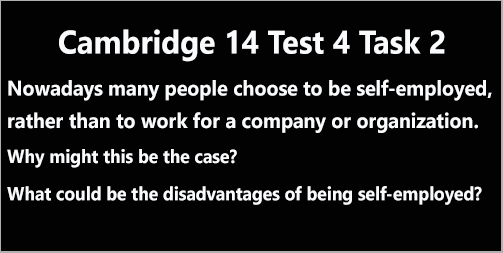 IELTS AC & GT Writing Task 2: Cambridge 14 Test 4; essay on managing personal business; with discussion and model answer