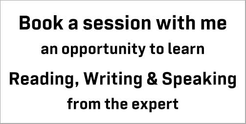 Book a session with me: take the opportunity to improve your skills in IELTS Reading, Writing & Speaking