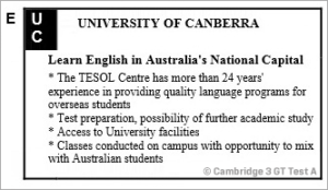 IELTS General Training Reading: Cambridge 3 Test A Section 1; Language courses & MAIN STREET, GATTON RE-DEVELOPMENT; with top solutions and best explanations