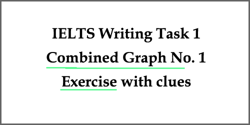 Writing Task 1, combined graph exercise: fillings gaps with clues