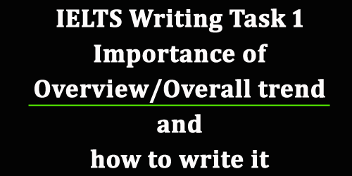 Overview/ Overall trend in IELTS writing task 1: importance and how to write with examples