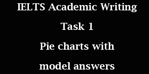 IELTS Academic Writing Task 1: two different pie charts with model answers